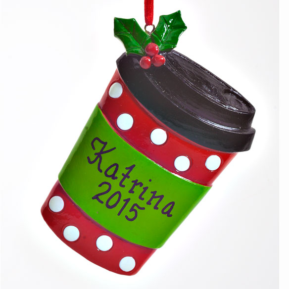 Personalized Coffee Cup Ornament - View 2