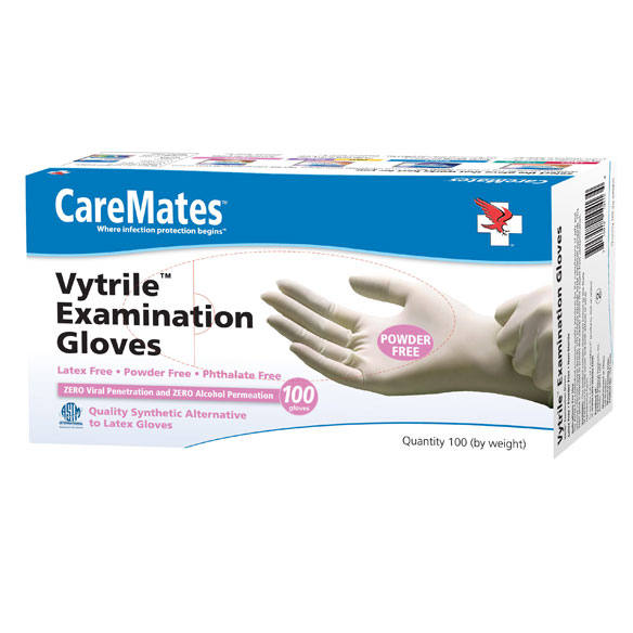 CareMates™ Vytrile™ Gloves, Set of 100 - View 2