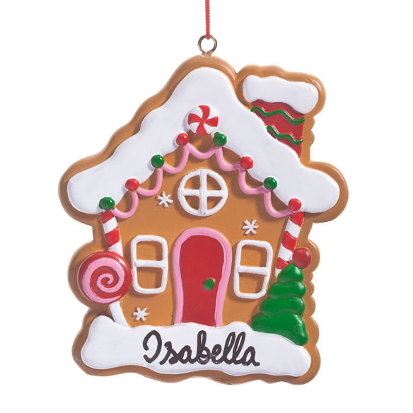 Personalized Gingerbread House Ornament - View 2