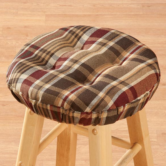 Plaid Bar Stool Cushion - View 2