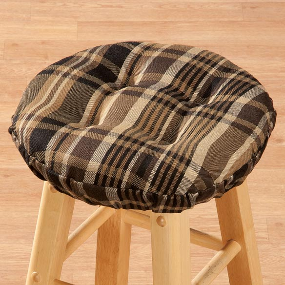 Plaid Bar Stool Cushion - View 3