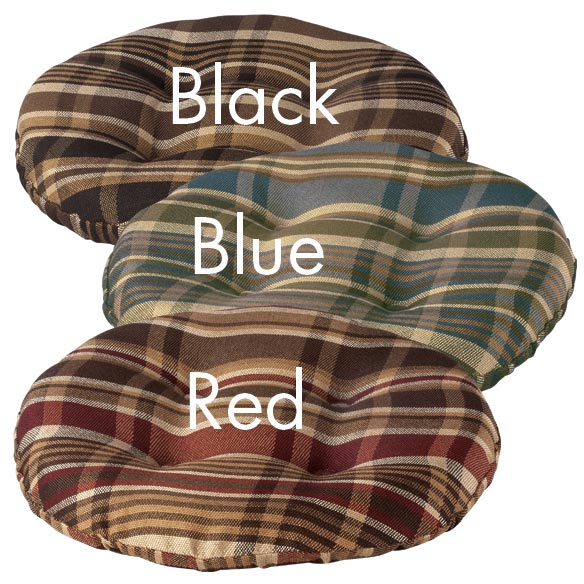 Plaid Bar Stool Cushion - View 4
