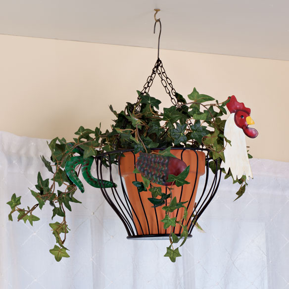 Hanging Rooster Fruit Basket - View 2
