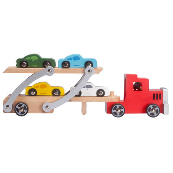 Personalized Wooden Car Carrier Set - View 2
