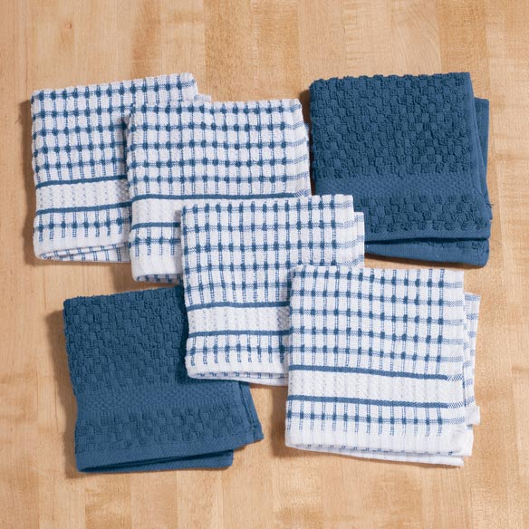 Terry Kitchen Dish Cloths, Set of 6 - View 2
