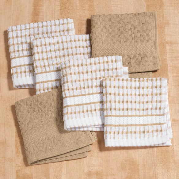 Terry Kitchen Dish Cloths, Set of 6 - View 3