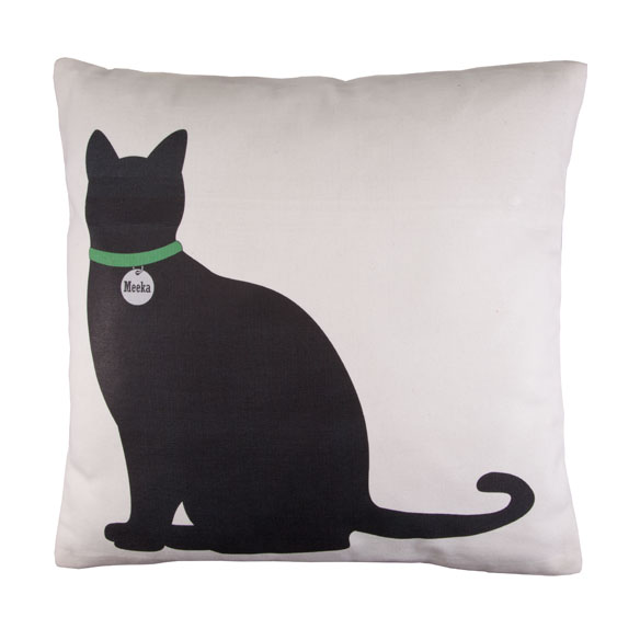 Personalized Sitting Cat Silhouette Pillow - View 2