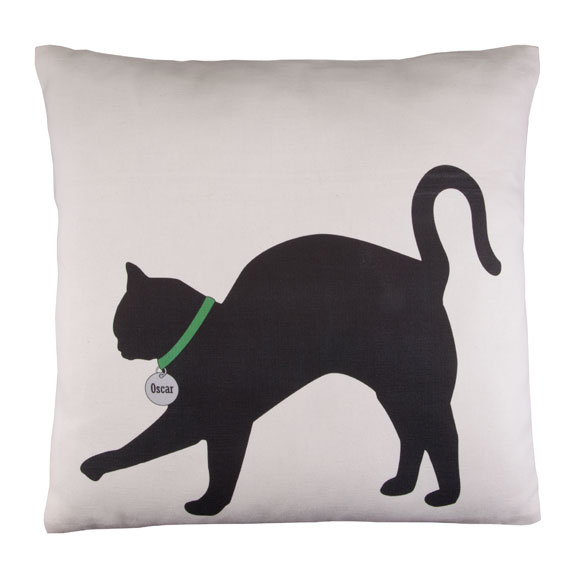 Personalized Stretching Cat Silhouette Pillow - View 2