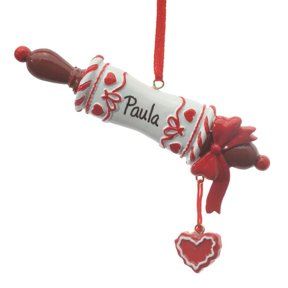 Personalized Rolling Pin Ornament - View 2