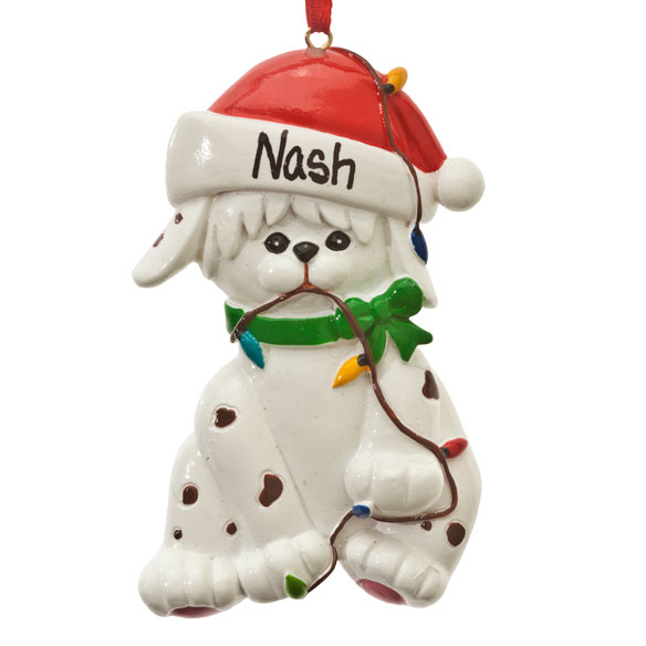 Personalized Dog in Lights Ornaments - View 2