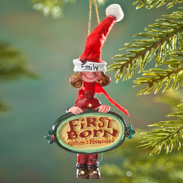 Mom's Favorite First Child Ornament - View 2
