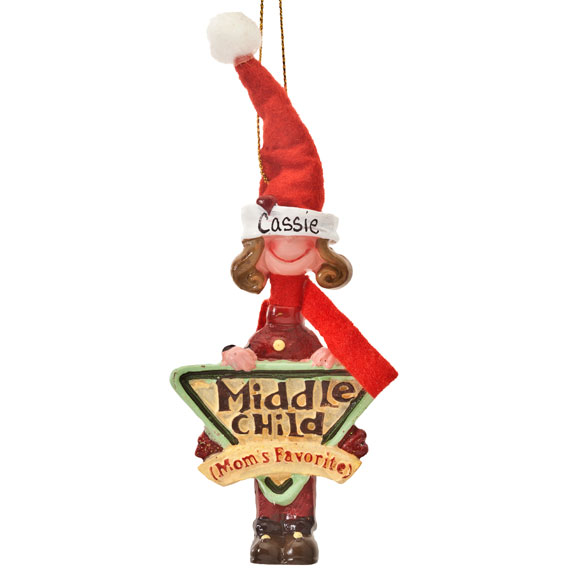 Mom's Favorite Middle Child Ornament - View 3