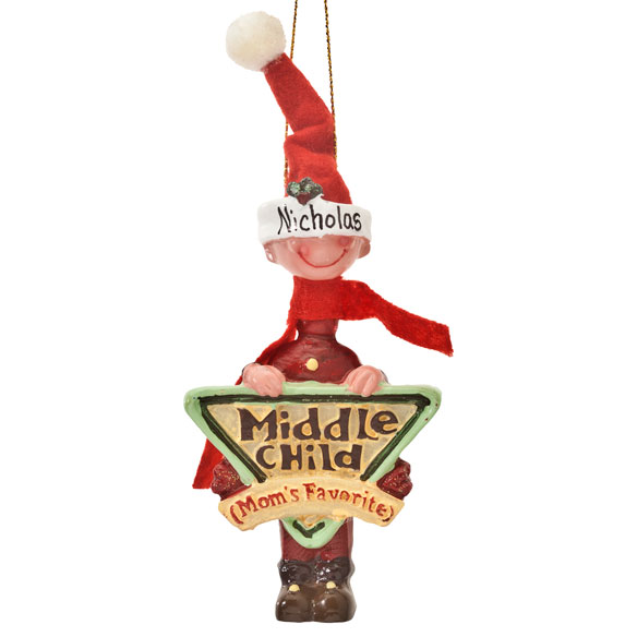 Mom's Favorite Middle Child Ornament - View 4
