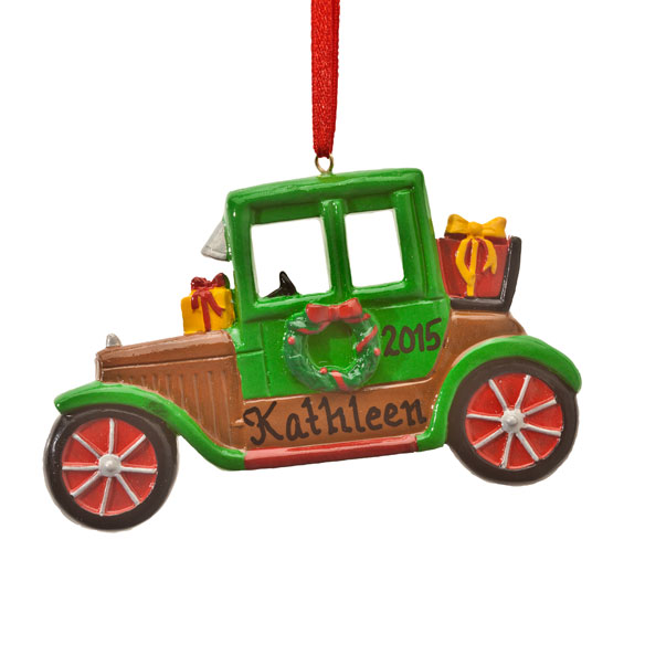 Personalized Antique Car Ornament - View 2