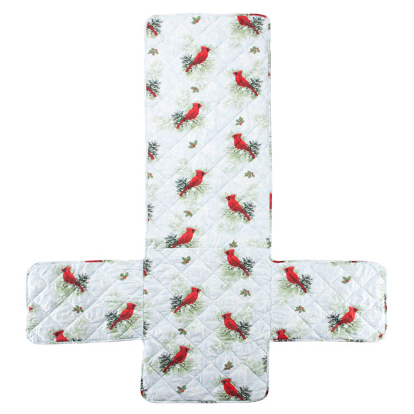 Microfiber Winter Cardinal Recliner Cover - View 2