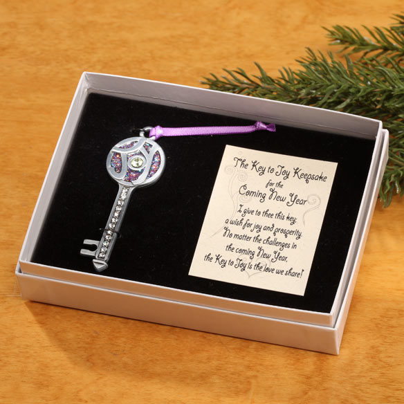 The Key to Joy Pewter Ornament - View 2