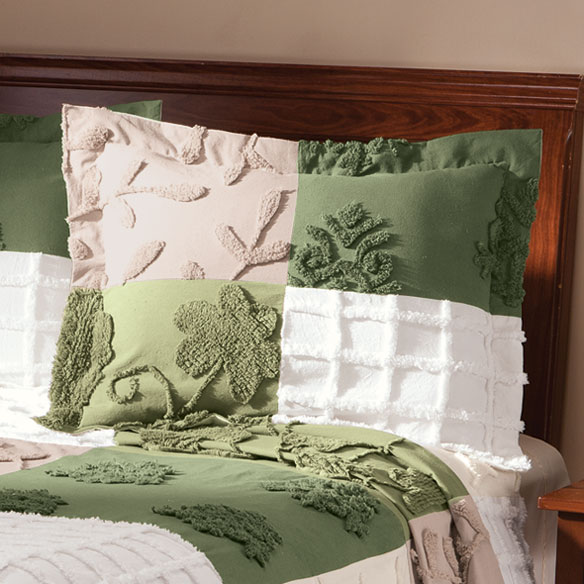 Patchwork Chenille Pillow Sham - View 3