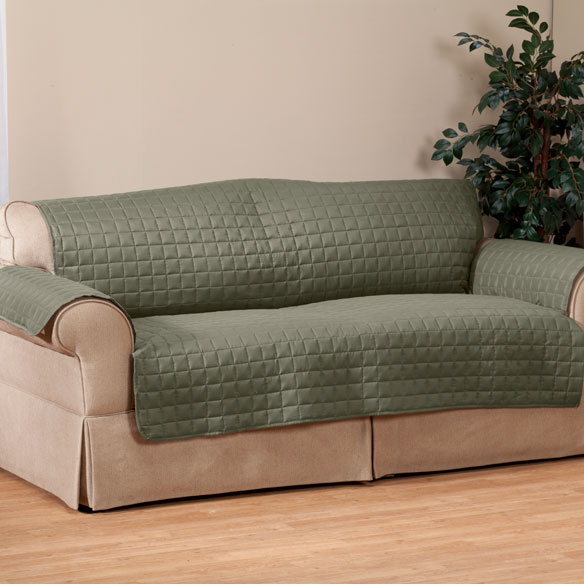 Microfiber Extra-Large Sofa Protector by OakRidge Comforts™ - View 4