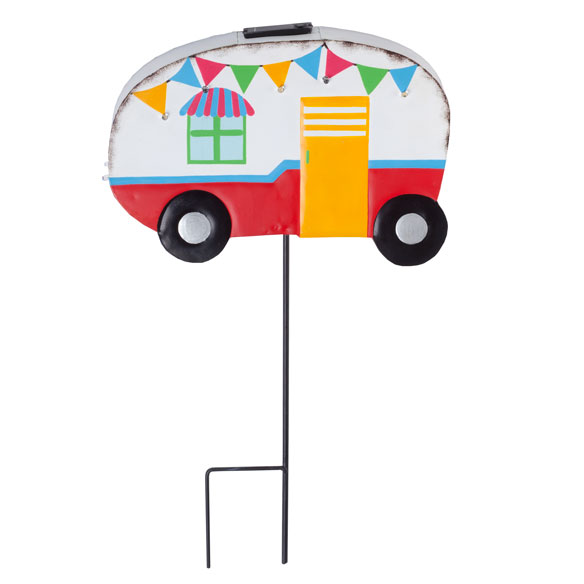 Vintage Camper Yard Stake by Maple Lane Creations™ - View 3