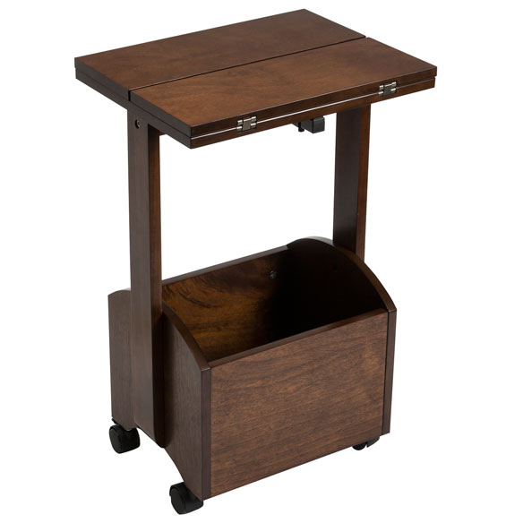 Rolling Folding Side Table by OakRidge Accents™ - View 3