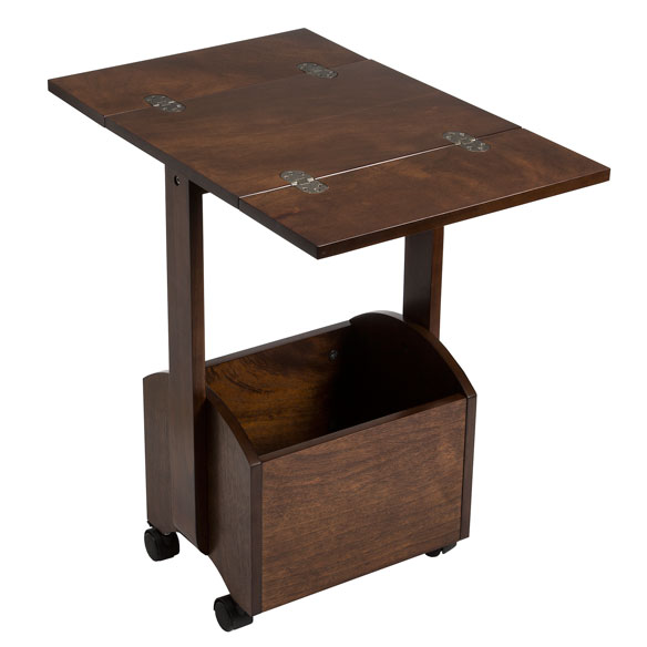 Rolling Folding Side Table by OakRidge Accents™ - View 4