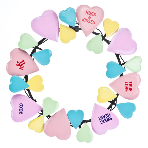 Conversation Heart Wreath by Maple Lane Creations™ - View 2