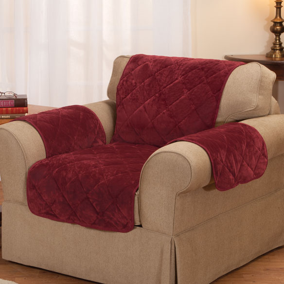 Fine Velvet Chair Protector by OakRidge Comforts™ - View 2