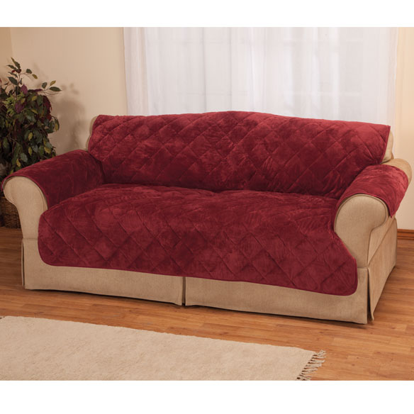 Fine Velvet Loveseat Protector by OakRidge Comforts™ - View 2
