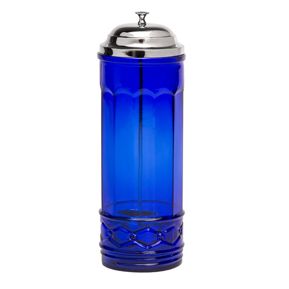 Cobalt Blue Glass Straw Dispenser - View 3