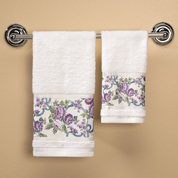 Ribbons and Roses Printed Towels - View 2