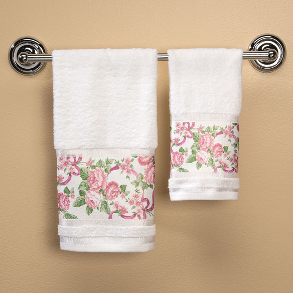 Ribbons and Roses Printed Towels - View 3