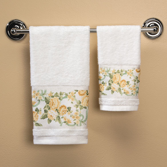 Ribbons and Roses Printed Towels - View 4
