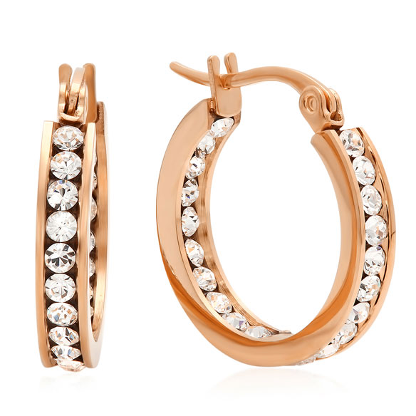 Swarovski Elements Hoop Earrings - View 2