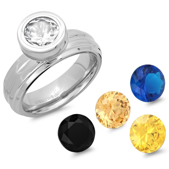 Interchangeable CZ Ring - View 2