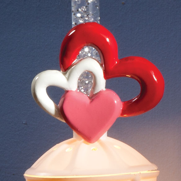 Silver Bubble Nightlight with St. Pat's & Valentine's Clips - View 2