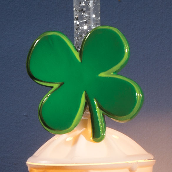 Silver Bubble Nightlight with St. Pat's & Valentine's Clips - View 4