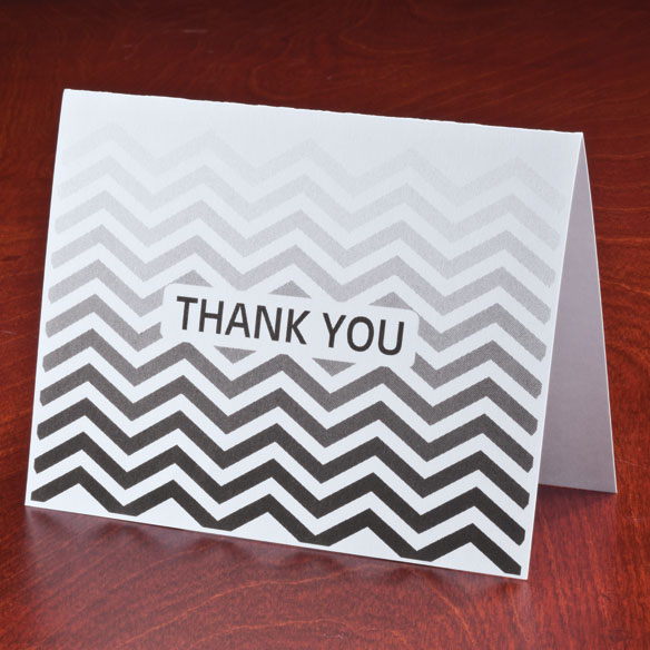 Chevron Thank You Note Cards, Set of 25 - View 2