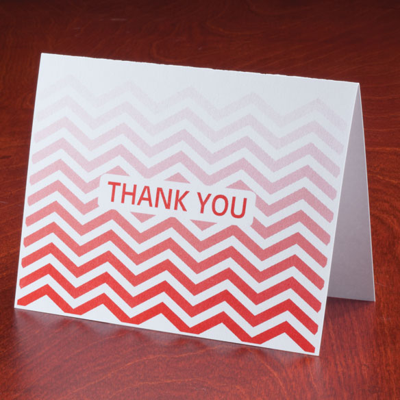 Chevron Thank You Note Cards, Set of 25 - View 3