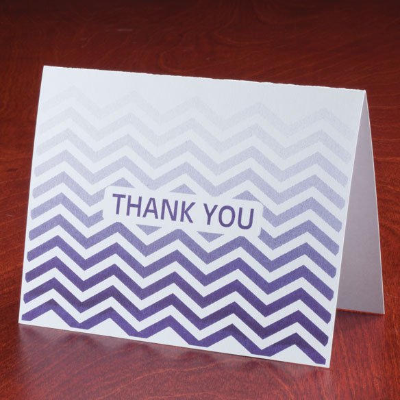 Chevron Thank You Note Cards, Set of 25 - View 4