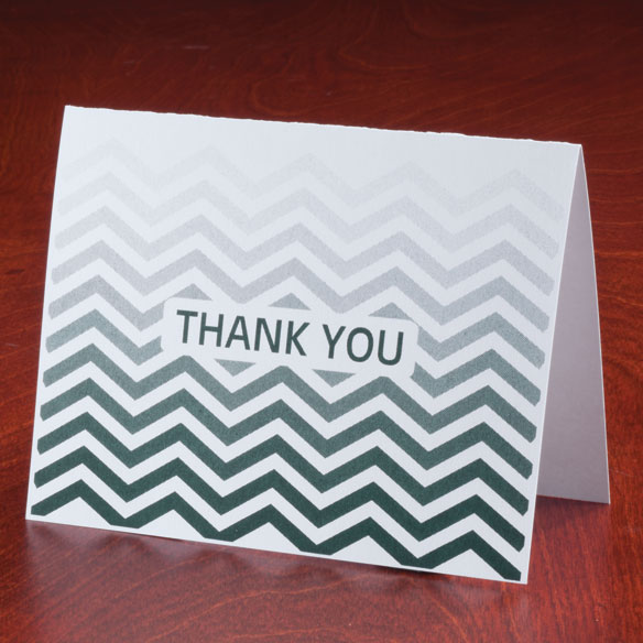 Chevron Thank You Note Cards, Set of 25 - View 5