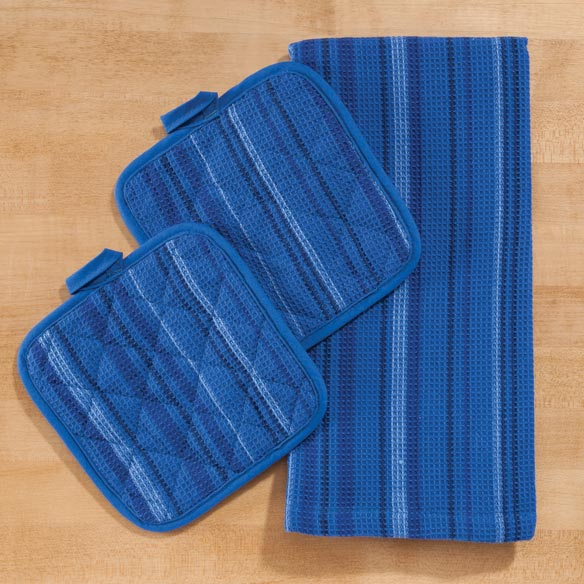 Striped 3-Pc. Kitchen Linen Set - View 2
