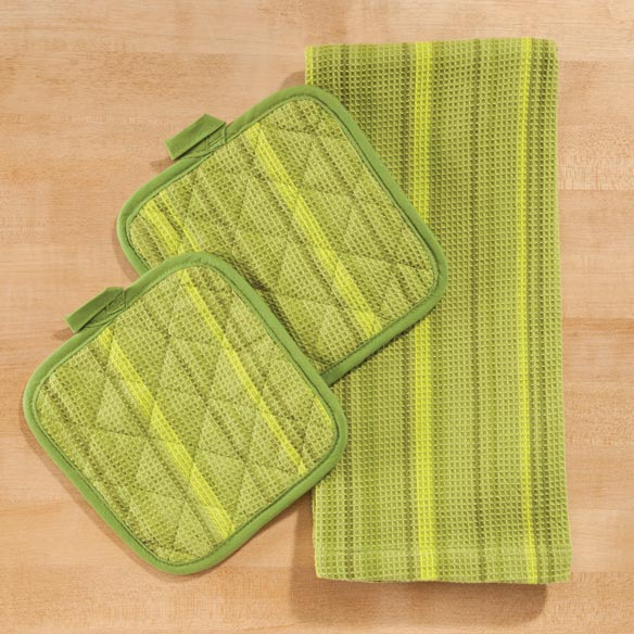 Striped 3-Pc. Kitchen Linen Set - View 3