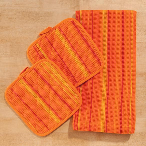 Striped 3-Pc. Kitchen Linen Set - View 4