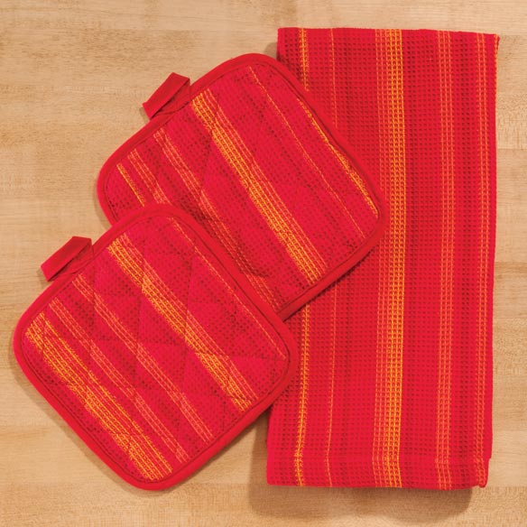 Striped 3-Pc. Kitchen Linen Set - View 5