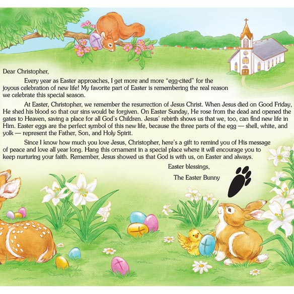 Personalized Religious Letter and Gift from the Easter Bunny - View 2