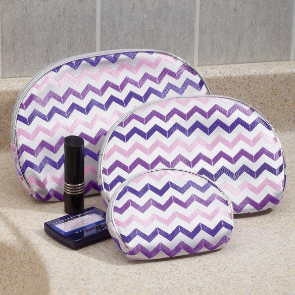 Chevron Cosmetic Cases, Set of 3 - View 2