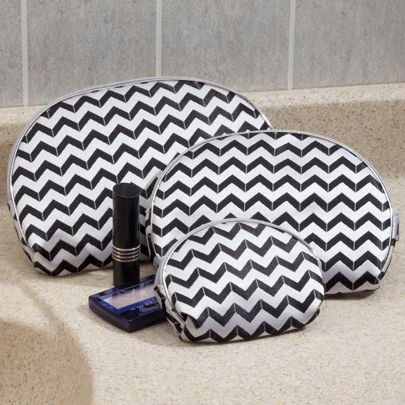 Chevron Cosmetic Cases, Set of 3 - View 3