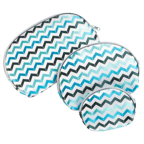 Chevron Cosmetic Cases, Set of 3 - View 4