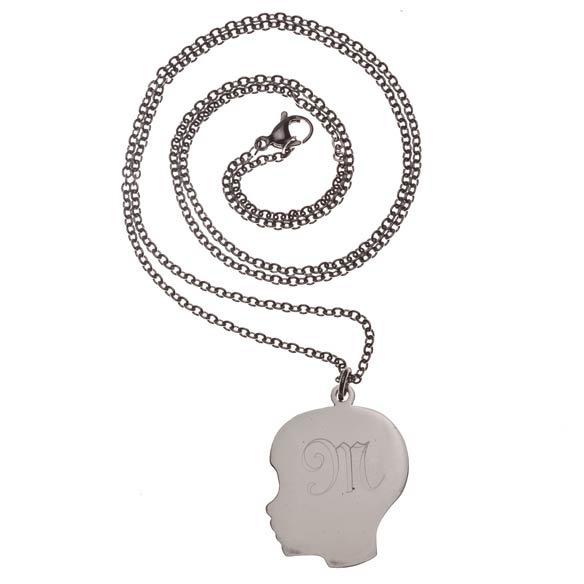 Personalized Silhouette Boy Necklace - View 2