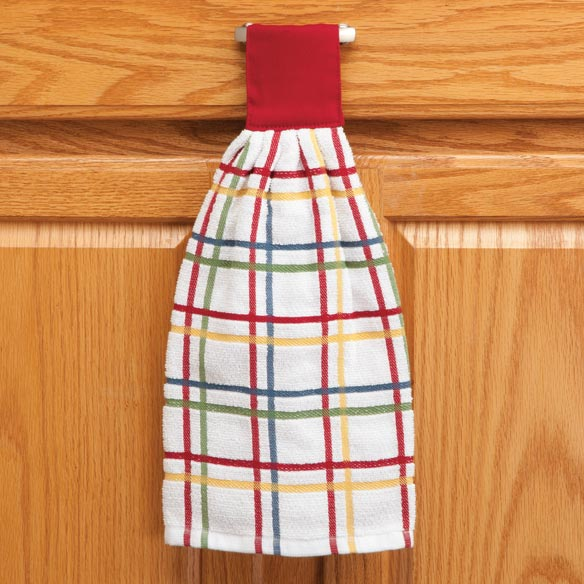 Cotton Hanging Towels - Checked - View 3